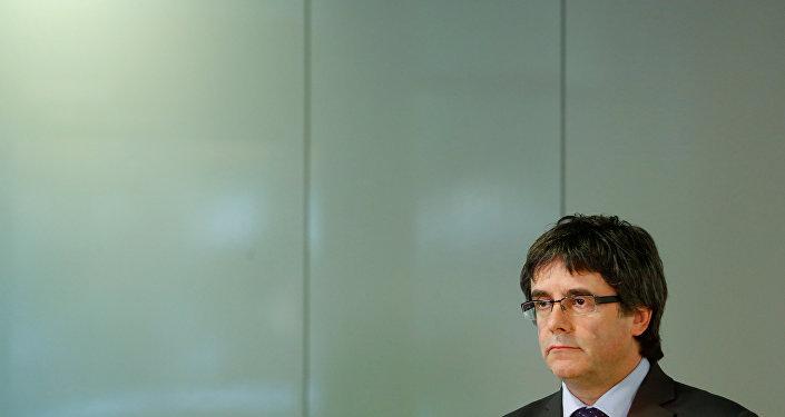 Carles Puigdemont el expresidente de la Generalitat