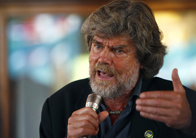 Reinhold Messner, alpinista italiano (archivo)