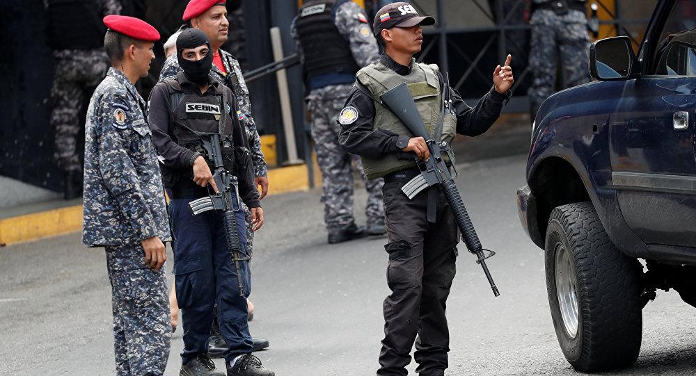 Miembros del Servicio Bolivariano de Inteligencia Nacional (Sebin)
