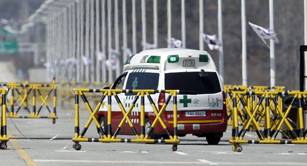 Una ambulancia surcoreana