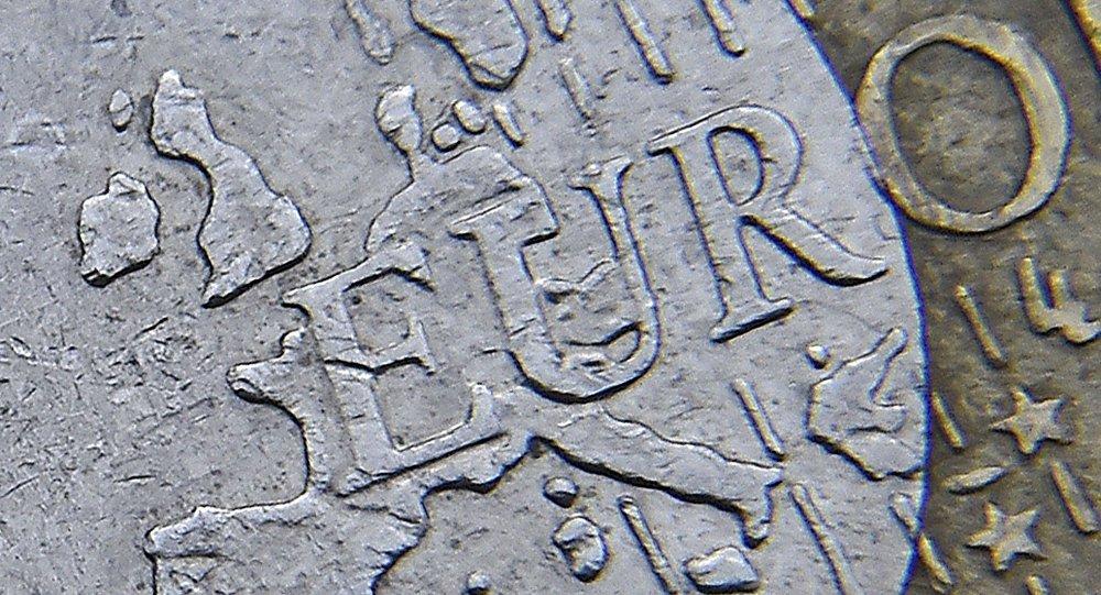 Detalle de una monera de euro
