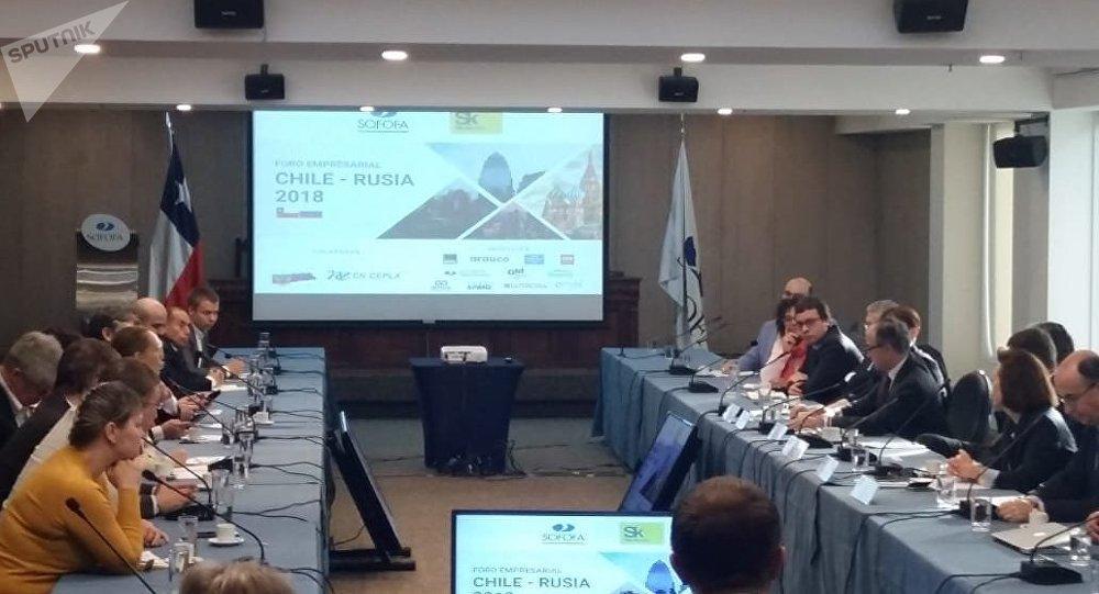 Foro de negocios entre empresarios chilenos y empresarios de la Fundación Skólkovo de Rusia