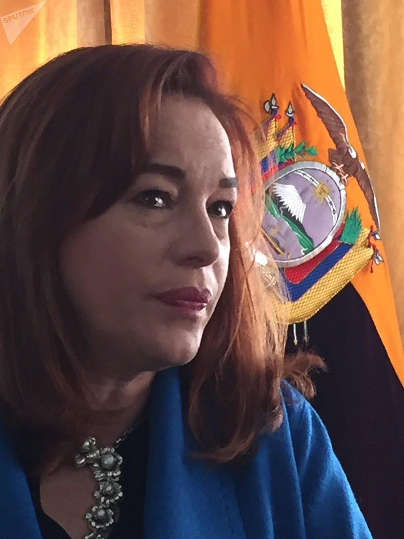 María Fernanda Espinosa, la canciller ecuatoriana, en exclusiva a Sputnik