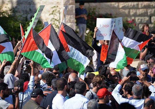 Protestas en Palestina