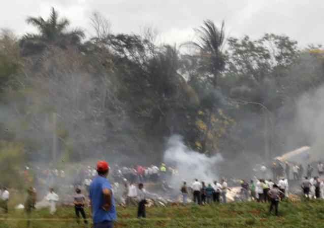 Imágenes del lugar del siniestro del avión en Cuba