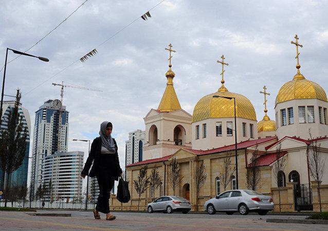 Una iglesia cristiana en la capital de Chechenia