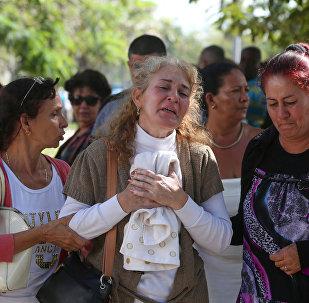 Familiares de las víctimas del estrello del avión Boeing 737 en Cuba
