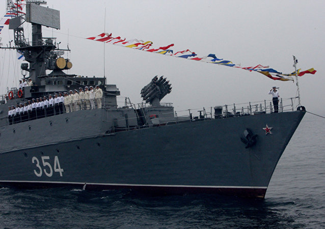 Un buque de la Flota Rusa del Pacífico (archivo)