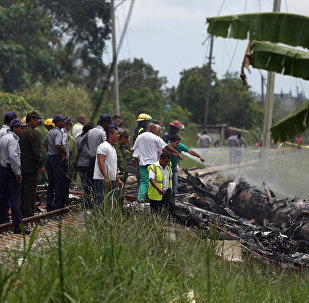 Lugar del siniestro del avión Boeing 737 en La Habana