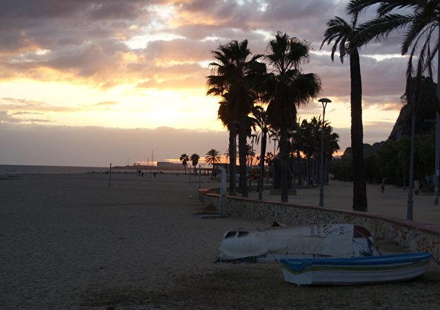 La playa de Canet de Mar