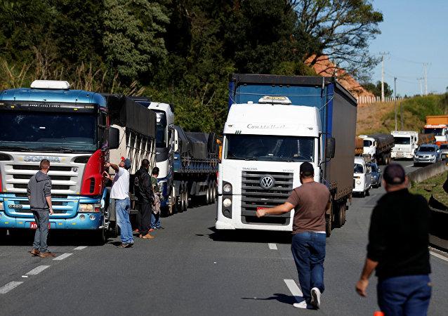 Protestas de los camioneros en Brasil