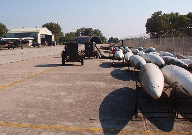 La base aérea de Araxos, foto de archivo