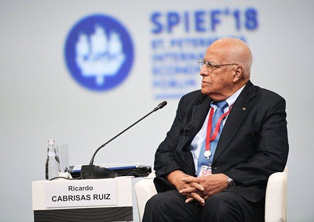 Ricardo Cabrisas, vicepresidente del Consejo de Ministros y ministro de Economía y Planificación de Cuba