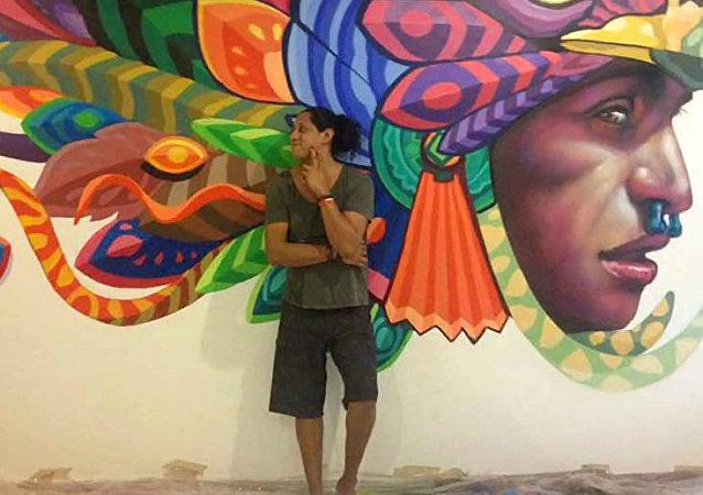 Farid Rueda, muralista mexicano