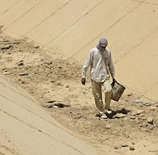 Irak sin agua dulce, un canal seco cerca de Bagdad