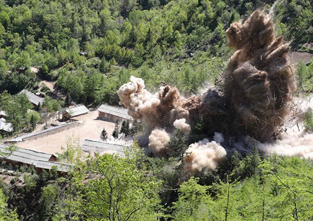El desmontaje del polígono nuclear Punggye-ri en Corea del Norte