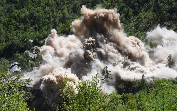 El desmantelamiento del polígono nuclear norcoreano de Punggye-ri