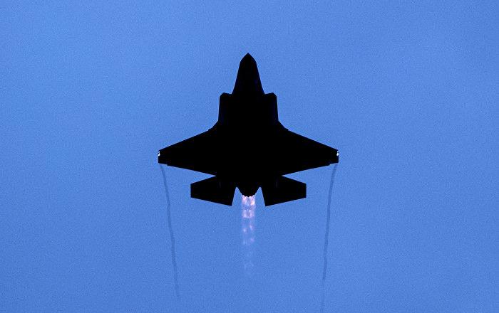 Un avión de combate F-35 de producción de EEUU