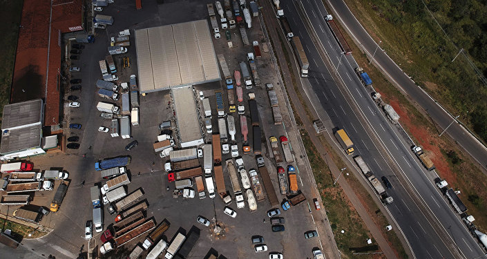 La huelga de camioneros de Brasil