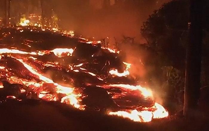 Así es la impresionante erupción del volcán de Kilauea