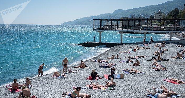 Una playa de Yalta