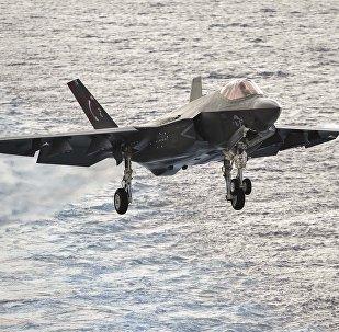 Un caza F-35 (imagen referencial)