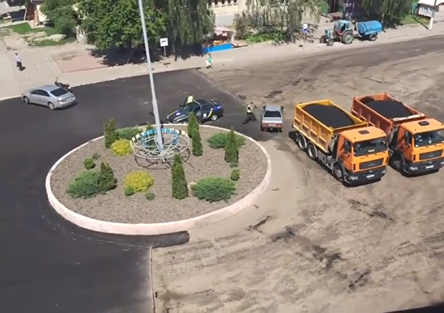 Una conductora le toma el pelo a la policía ucraniana