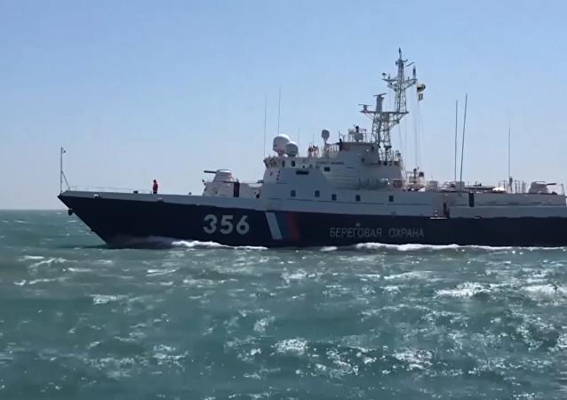 La guardia fronteriza garantiza la protección del puente de Crimea