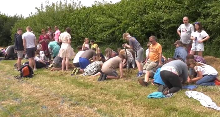 Campeonato de encantamiento de gusano en el Reino Unido