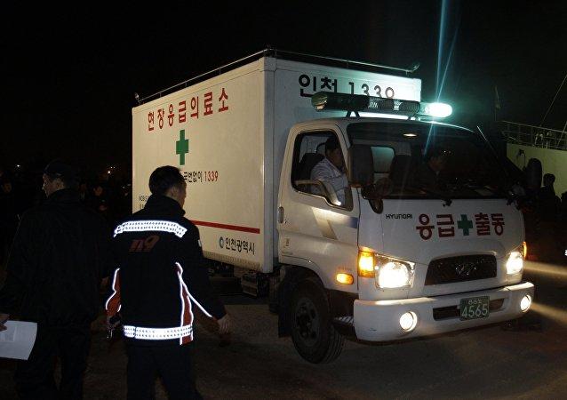 Ambulancia surcoreana (archivo)