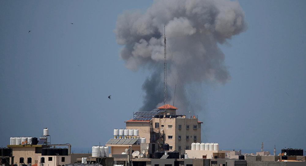 Ataque aéreo de Israel en la Franja de Gaza