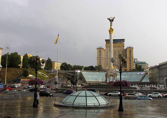 Plaza de la Independencia en Kiev, Ucrania (imagen referencial)