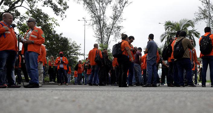 Huelga de trabajadores del petróleo de Brasil