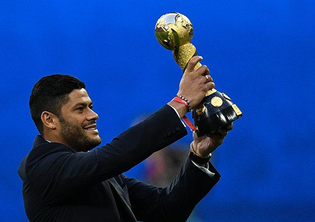 Givanildo Vieira de Souza, futbolista brasileño, durante la final de la Copa Confederaciones de la FIFA 2017