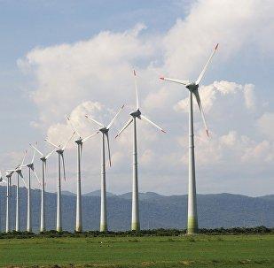 Un parque eólico