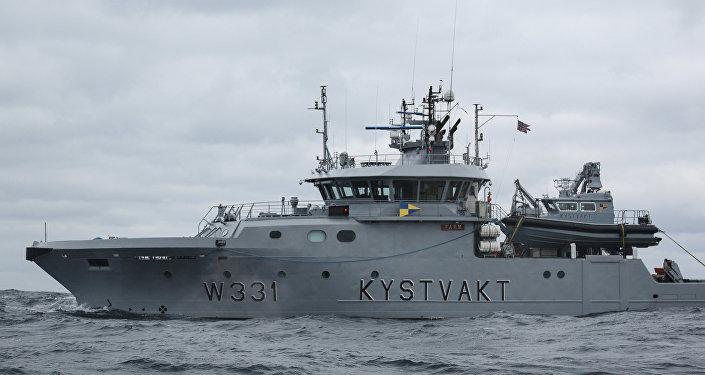Un buque noruego durante los ejercicios Barents 2018