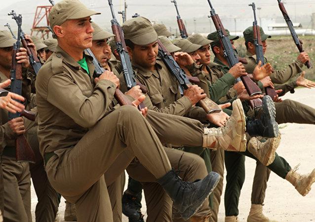 Militares de los kurdos sirios