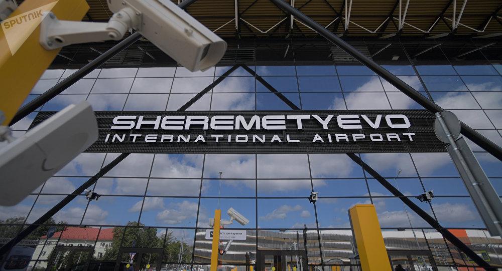 Entrada del aeropuerto moscovita de Sheremétievo