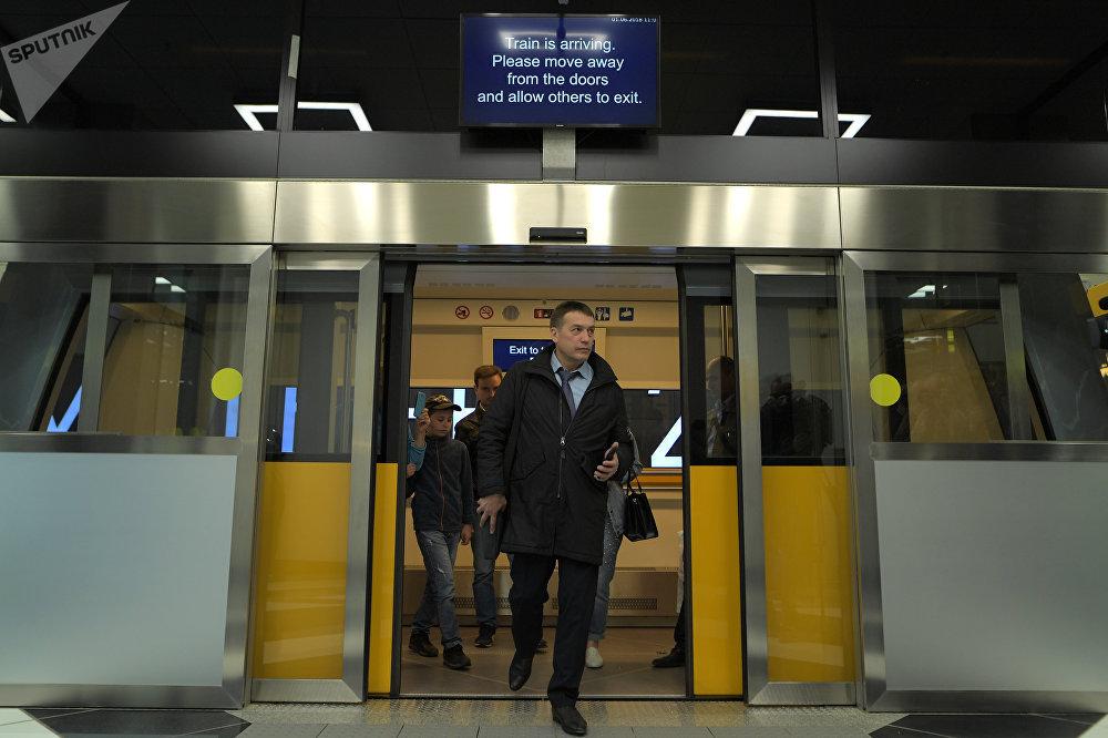 La lanzadera de la terminal B de Sheremétievo