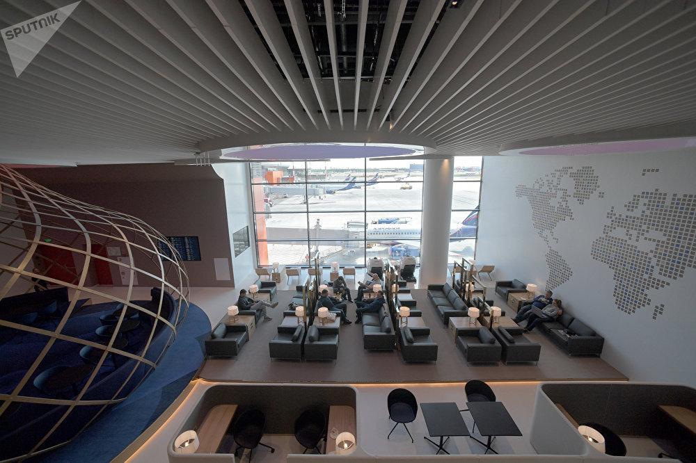 Una de las salas VIP de la nueva terminal