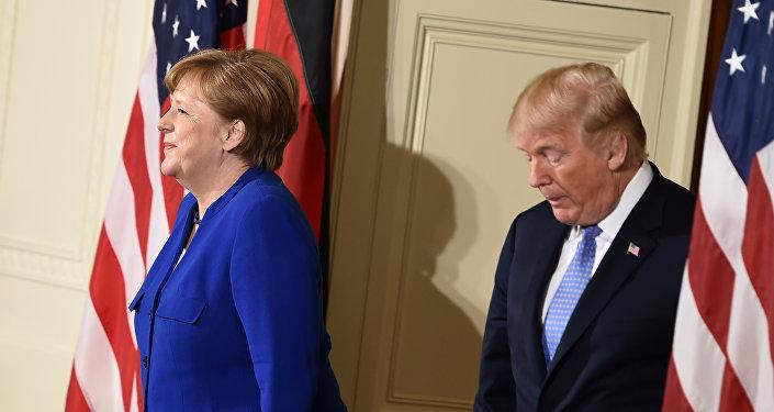 Angela Merkel, canciller de Alemania y Donald Trump, presidente de EEUU