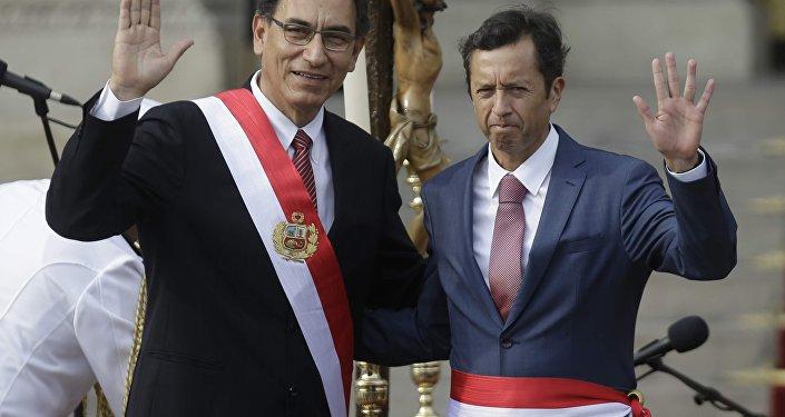 Martín Vizcarra, presidente de Perú y David Tuesta, exministro de Economía y Finanzas de Perú