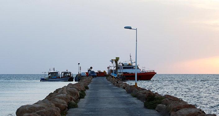 Barcos pesqueros en Túnez
