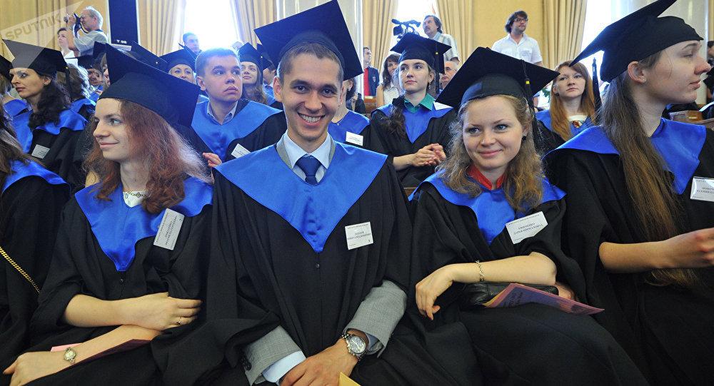 Estudiantes en Rusia