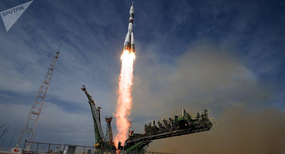 Lanzamiento de un cohete Soyuz (imagen referencial)