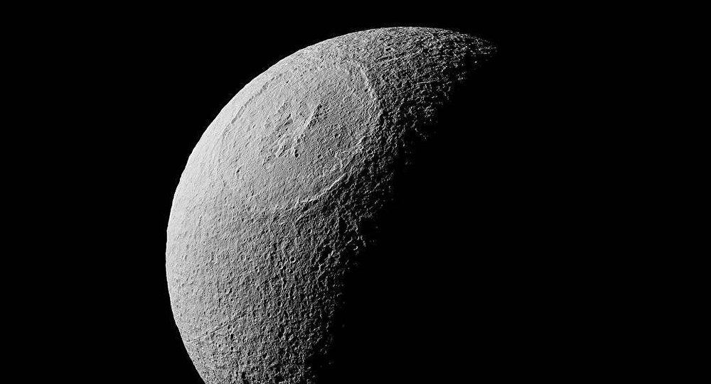 Tethys, una luna de Saturno (imagen ilustrativa)