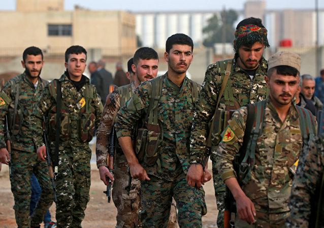Kurdos sirios, foto de archivo