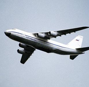 Avión de transporte ruso An-124 Ruslan