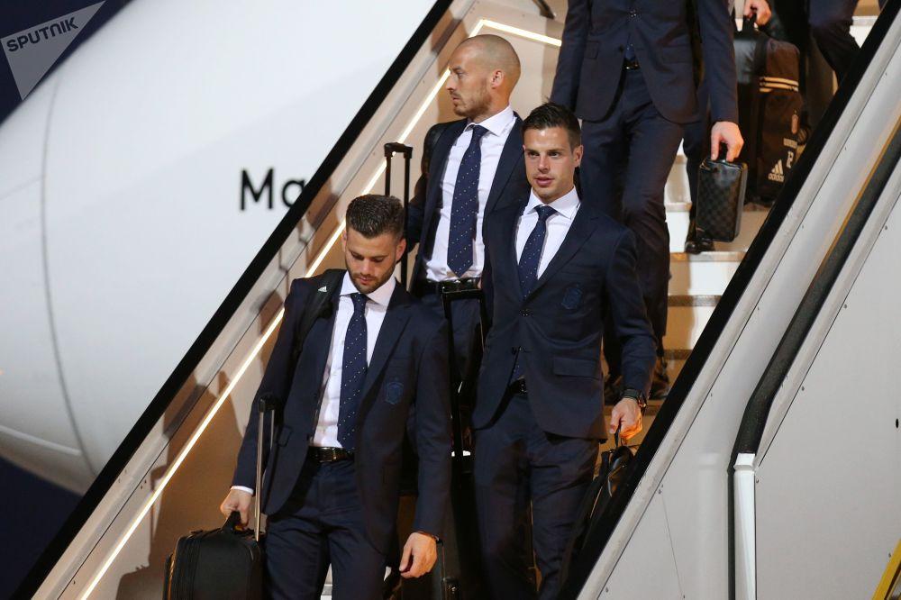 La selección española llega a Rusia para el Mundial 2018