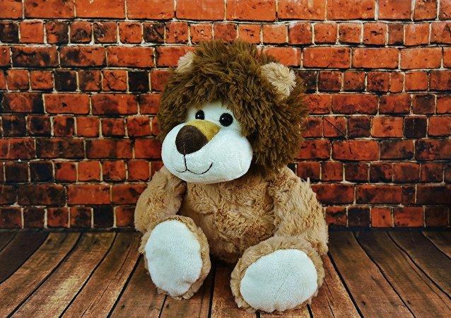 Un león de peluche, imagen referencial